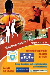 Affisch basket 10e maj
